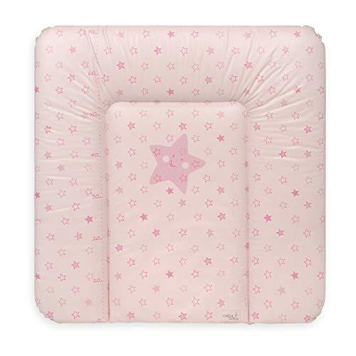 Ceba Baby Colchón Cambiador Bebe Impermeable para Niños y Niñas - Rosa 70x75 cm