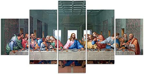 Leonardo Da Vinci s The Last Supper Poster Print on Canvas Painting Wall Art for Living Room product image