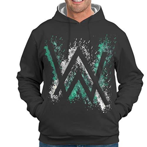 YxueSond Mens Unisex Sweatshirts Hoodies Alan Walker Langarm Sweatshirt Pullover Rundhals Für Männer White 2XL