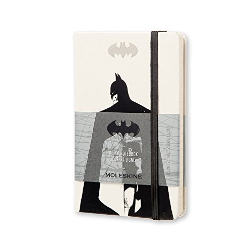 Moleskine Batman Limited Edition Notebook, Pocket, Ruled, White, Hard Cover (3.5 X 5.5)