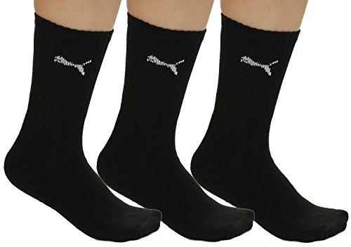 Puma - Unisex Sport Socken, 3er Pack, black, 43-46