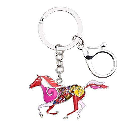 YSCSTORE HumoliStore Statement Metal Elegant Running Horse Keychain Key Chain Ring, Pendant Size: 29mm X 49mm, Fashion Animal Alloy Jewelry For Women And Girls Car Pendant and cheap