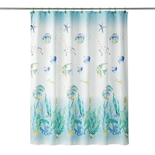 SKL Home by Saturday Knight Ltd. Ocean Watercolor Shower Curtain, Multicolored, 70x72