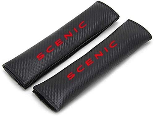 2 Piezas Fibra De Carbono Coche CinturóN De Seguridad Hombro CojíN, Para Renault SCENIC, Cubrehombro De Seguridad, Estilo Interior