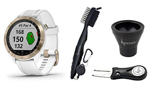 Great Features Of Garmin Approach S40 GPS Golf Smartwatch with Included Wearable4U Golf Tools Kit Bu...