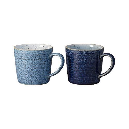 Studio Blue 2-teiliges Tassen-Set mit geriffeltem Rand