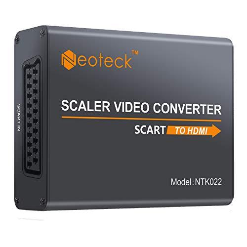Neoteck Scart-zu-HDMI-Konverter und UK-Audioadapter für Smartphones für HDTV, STB, PS3, Sky, DVD-Player, Blu-Ray usw.