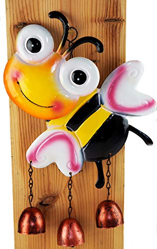 PMS Carillon à vent en métal Motif abeille