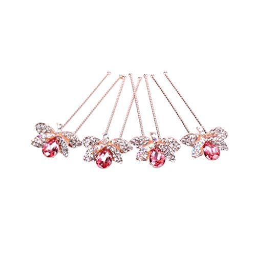 Lurrose 4 piezas nupcial perlas para el cabello perlas boda perlas para...