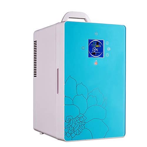 LJJY 16L Digitalanzeige Dual-Core-Temperaturregelung Mini-Kühlschrank leise geräuscharme energiesparende Auto und Haushalt Heizung und Kühlung Box tragbare Auto Koffer Kühler