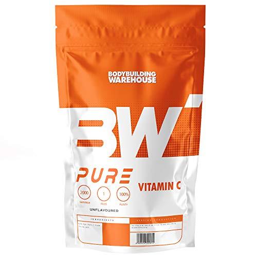 Bodybuilding Warehouse, Pure Vitamin C Powder Supports Immune System Orange Flavour, White, 100g