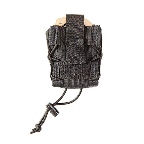 High Speed Gear MOLLE Mounted Handcuff Taco Pouch | Universal Handcuff Holster Fits Chain and Hinged Cuffs (Black)