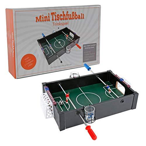 PARTS4LIVING Parts4Care Tischkicker Trinkspiel Partyspiel Tischkicker Miniformat 10x35x24 cm