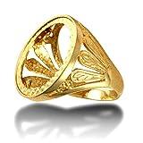 Anello da uomo in oro massiccio 9 carati, con piume gallesi, misura V