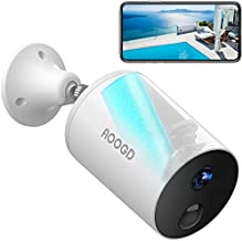 AOOGD Security Camera Outdoor, Battery-Powered Wireless Security Cameras for Home Security with PIR Human Motion Detection, Night Vision, Two-Way Audio, Android / iOS Compatible