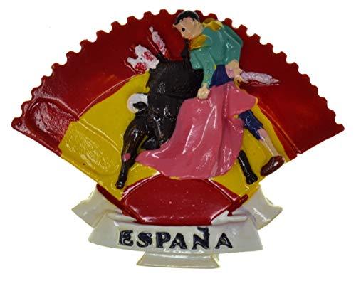 SP3 España Torero Imán de refrigerador Etiqueta magnética España Diseño aleatorio Imán de refrigerador Toro español Imán de nevera 3D Insignia magnética Toros Imán de nevera español