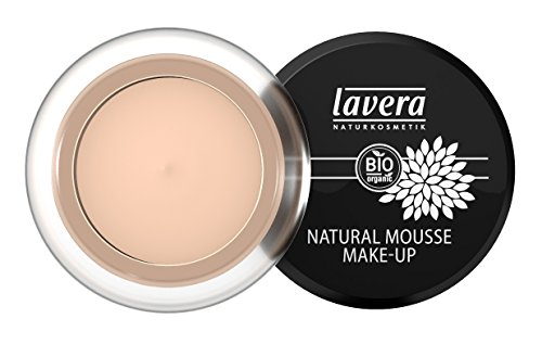 lavera Natural Mousse Makeup Foundation ∙ Farbe Ivory Hautfarbe ∙ matter Teint & cremige Textur ∙ Natural & innovative Make up ✔ vegan ✔ Bio Pflanzenwirkstoffe ✔ Naturkosmetik ✔ Teint Kosmetik 1er Pack (1 x 15 g)