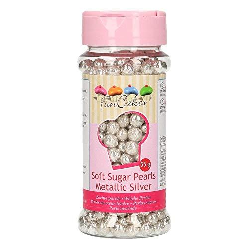 FunCakes Sprinkle para Repostería (Plata) - 55 g