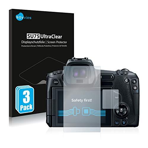 Savvies 6X Schutzfolie kompatibel mit Canon EOS R Displayschutz-Folie Ultra-transparent