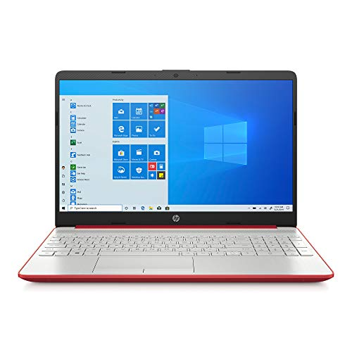 2020 HP 15.6' HD LED Display Laptop, Intel Pentium Gold 6405U Processor, 4GB DDR4 RAM, 128GB SSD, HDMI, Webcam, WI-FI, Windows 10 S, Scarlet Red