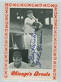 Zeke Bonura AUTOGRAPH d.87 TCMA Chicagos Greats Chicago White Sox
