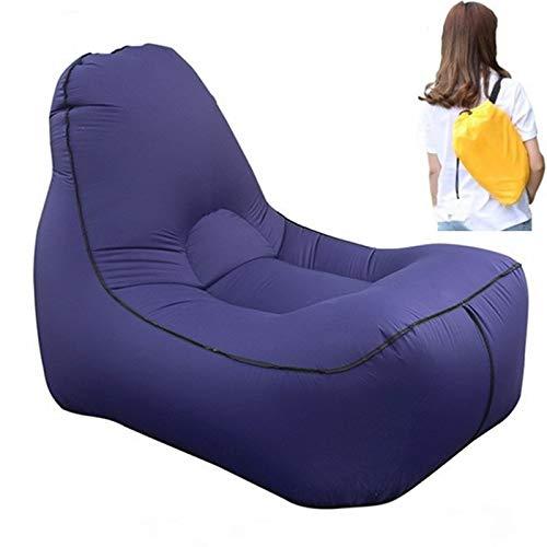AMTSKR - Sofá hinchable de aire libre para la playa, salón, tumbona, camping, senderismo, pesca, jardín
