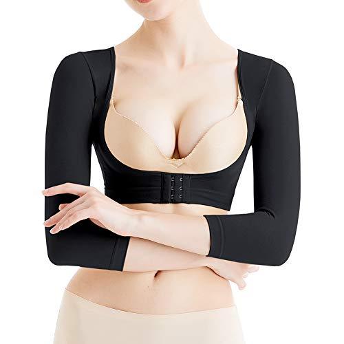 KSKshape - Formador de brazo para mujer con mangas de compresión para después quirúrgicas de adelgazamiento de las mangas correctoras de postura Negro Negro S