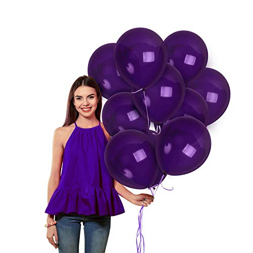 Matte Violet Dark Purple Balloons 36 Pack 12 Inch Premium Latex Deep Royal Purple Balloon Arch for Mermaid Baby Shower Birthday Garlands Bachelorette Wedding Halloween Party Supplies Decorations