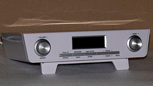 Terris Küchenradio in weiss - Unterbauradio FM AM Radio mit Timer & Alarm Funktion