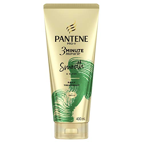 Pantene 3 Minute Miracle Smooth & Sleek - Deep Conditionining Treatment For Frizzy Hair, 400ml