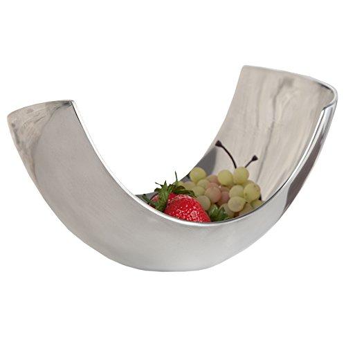 Riess Ambiente Teak Schale aus Aluminium Abstract 24cm