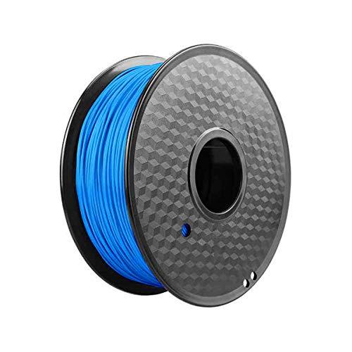 Filamento de impresora 3D PLA materiales 1,75 mm 1 kg bobina, precisión dimensional +/- 0,03 mm (azul)