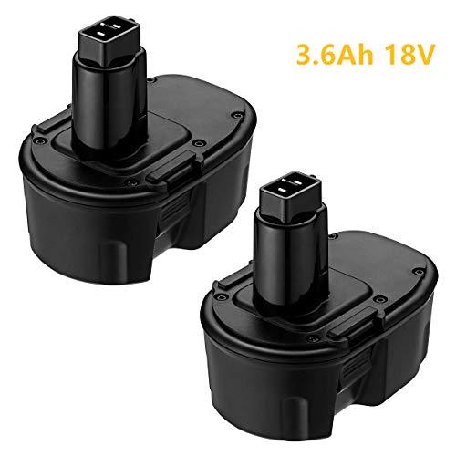 2PACK 3.6Ah Replace for DEWALT 18V Battery DC9096 XRP Battery DC9099 DC9098 DW9099 DW9098 Compatible DEWALT 18 Volt Cordless Power Tools