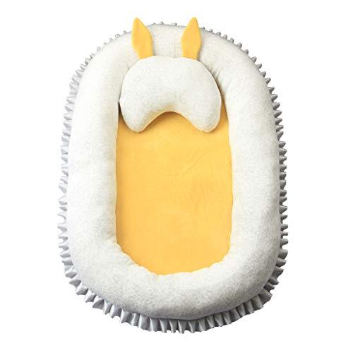 KAKIBLIN Moisés para cama, cuna portátil para recién nacido, apto para bebés de 0 a 8 meses amarillo amarillo