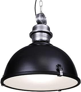 120V Italian Designed Hanging Industrial Pendant (Black)