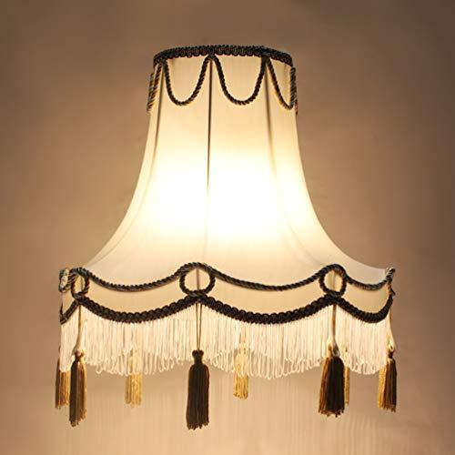 45 cm Kreativ Retro Palace Handgemachter E27 Gewidmet Lampenschirm, Rund Lampenschirm für Tischlampen, Stehlampen, Leinen Lampenschirm
