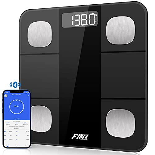 Scales for Body Weight and Fat Bluetooth Digital Scale for Bathroom Smart BMI Scale Body Composition Analyzer Sync 14 Data, High Precise Wireless Weight Scale with Smartphone App