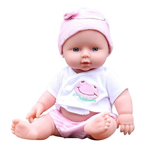 OEIGCI 12pouces 30cm Reborn bébé Fille Silicone poupée realiste Yeux Ouvert Vrai Poupon Garcon Toddlers Pas Cher Baby Dolls Girls