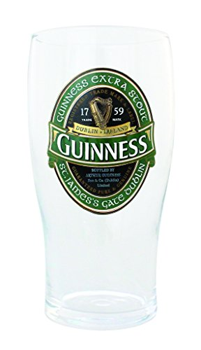 Guinness Green Collection Pint Glass by Guinness Official Merchandise