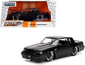 StarSun Depot 1987 Buick Grand National Matte Black 1/24 Diecast Model Car Jada