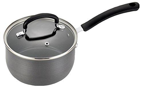 T-fal E78924 Precision Hard Anodized Nonstick Ceramic Coating PTFE PFOA and Cadmium Free Scratch Resistant Dishwasher Safe Oven Safe Sauce Pan Cookware, 3-Quart, Black