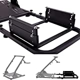 Minneer Rear Seat Frame Racing Wheel Stand Steering Gaming Simulator Frame Parts/Accessories Installable Most Chair Seat Support DIY Not Included Seat