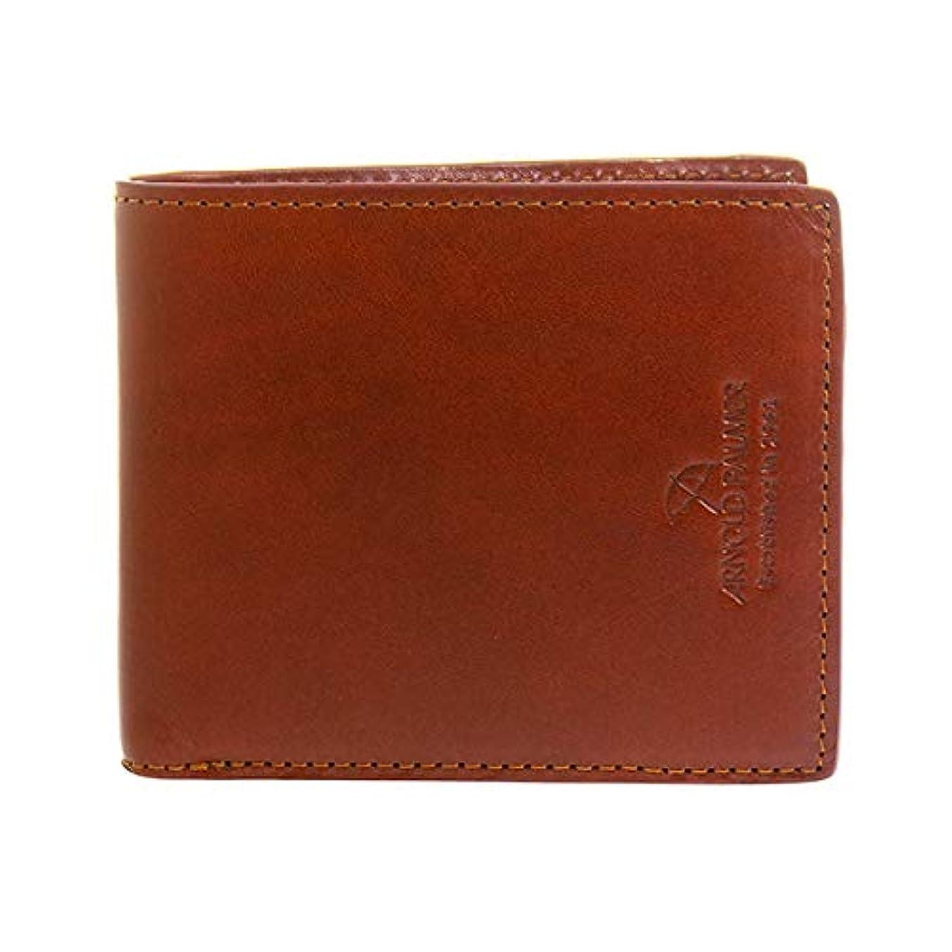 兄弟愛通常排他的アーノルドパーマー ARNOLD PALMER コンビカラー 二つ折り短財布 メンズ 4AP3253-BR ブラウン