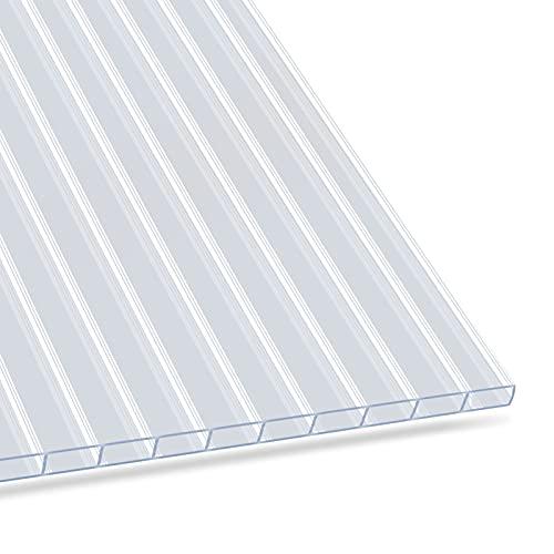 Hohlkammerplatte 4,5 mm - Stegplatten Doppelstegplatten aus Polycarbonat - Hohlkammerplatten für Garten, Gewächshaus & Modellbau - witterungsbeständig & lichtdurchlässig - 60,5 x 121 cm