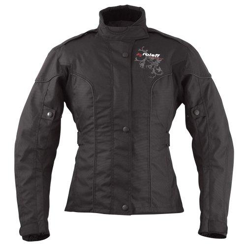 Roleff Racewear Damen Motorradjacke Ladylike RO 960, Schwarz, Größe L