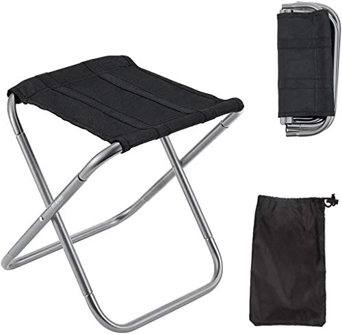 Mini Portable Camping Stool, Small Camping Chairs Folding Lightweight, Load Capacity to 300lbs, Travel Chair Perfect for Outdoor, Travel, Hiking, BBQ, Fishing, Beach