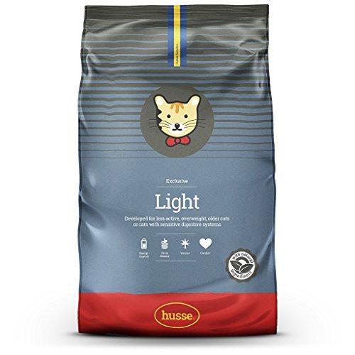 Husse - Exclusive Light 7 Kg | Pienso Gatos | Sabor Pollo y Pescado | Prevención Bolas de Pelo y Malos Olores Ingredientes