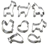 StarPack Premium Mini Animal Cookie Cutters including Goldfish Cookie Cutter, Stainless Steel, Great for Cooking with Kids