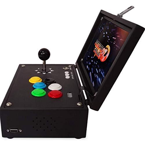 Xiaoai's shop Consola de Juegos nostálgica Retro, Lucha casera portátil portátil del tirón Arcade 3D