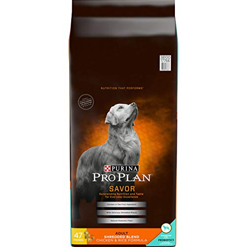 Purina Pro Plan With Probiotics Dry Dog Food, SAVOR Shredded Blend Chicken & Rice Formula - 47 lb. Bag